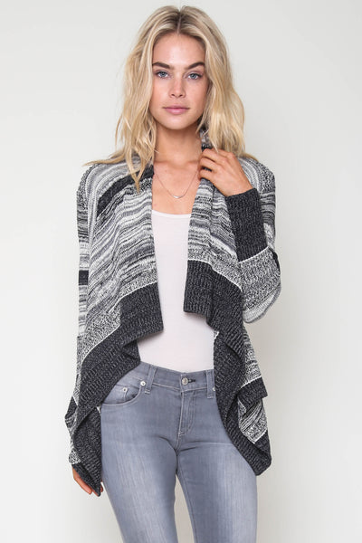 Boca Drape Front Sweater in Overnight