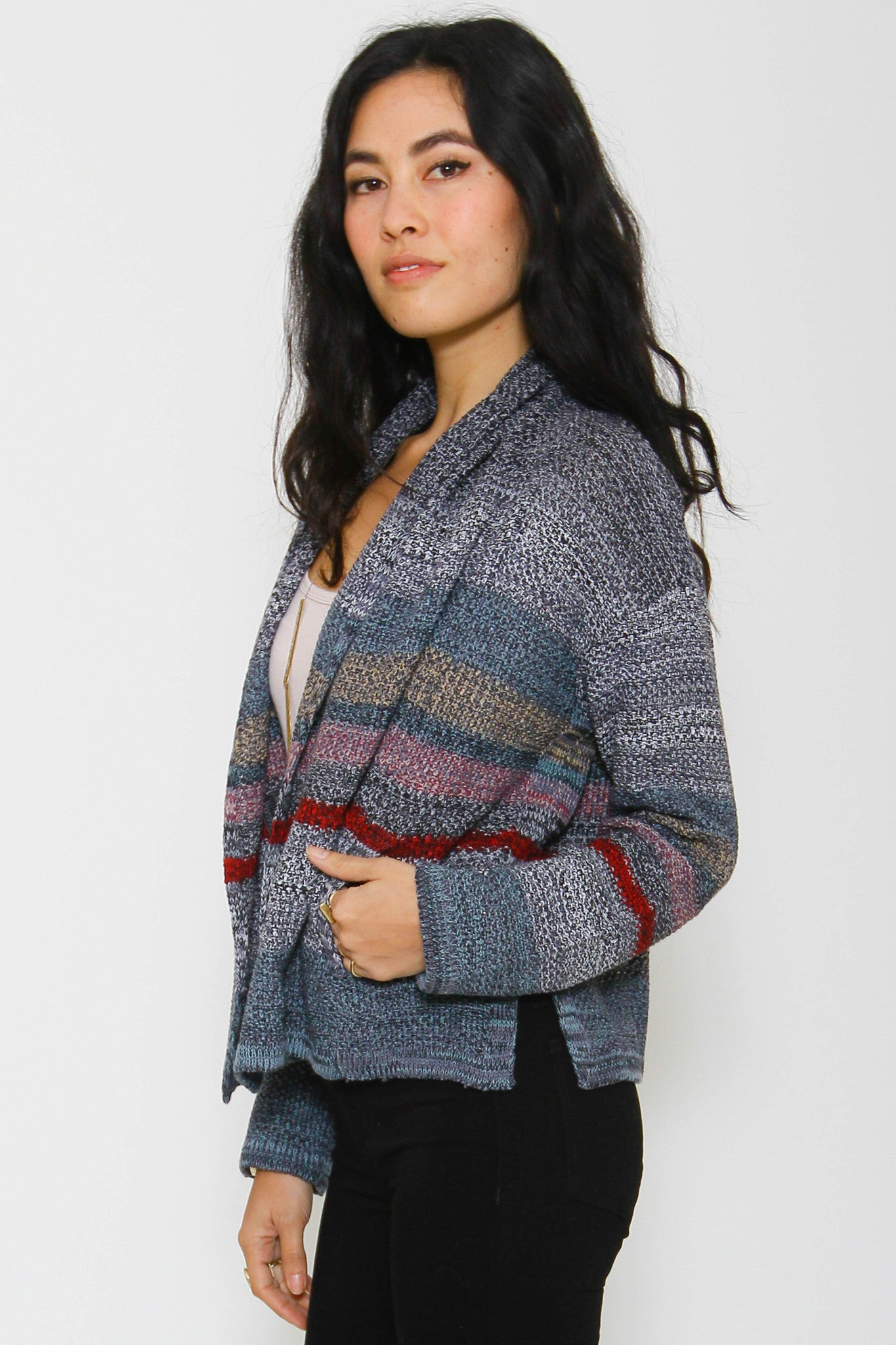 Charlott Cropped Cardigan in Evening Hush 'LAST ONE'