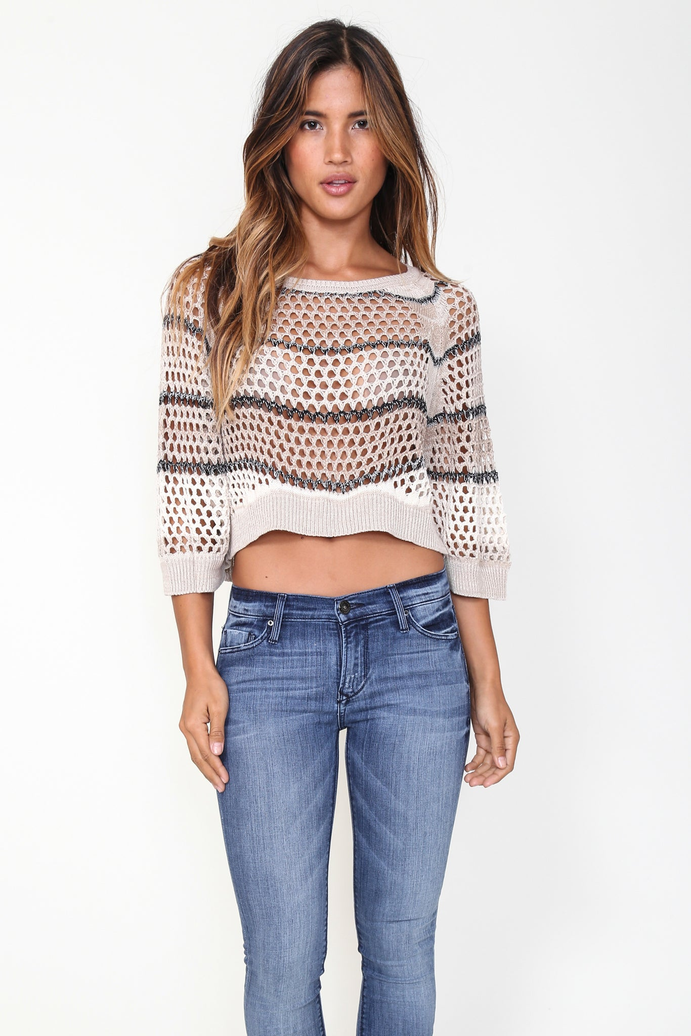 Charlize Pullover Top in Capri Cream 'LAST ONE'