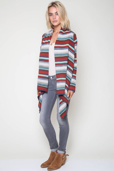 Cheyenne Textured Drape Sweater in Mosaic