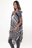 Easy Rider Sleeveless Cape in Overcast'LAST ONE'