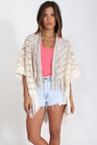 Ella Fringe Kimono in Honey Kissed