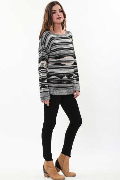 Ellie Pullover Sweater in Black Forest
