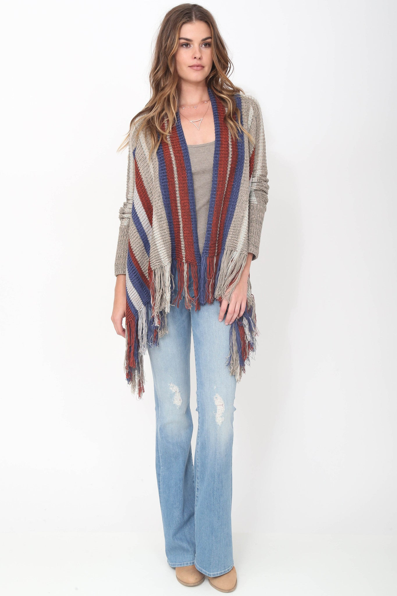 Fifi Fringe Sweater in Heights
