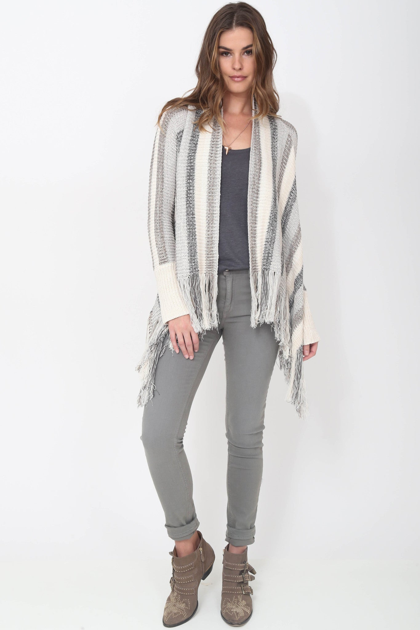 Fifi Fringe Sweater in Mooncrest