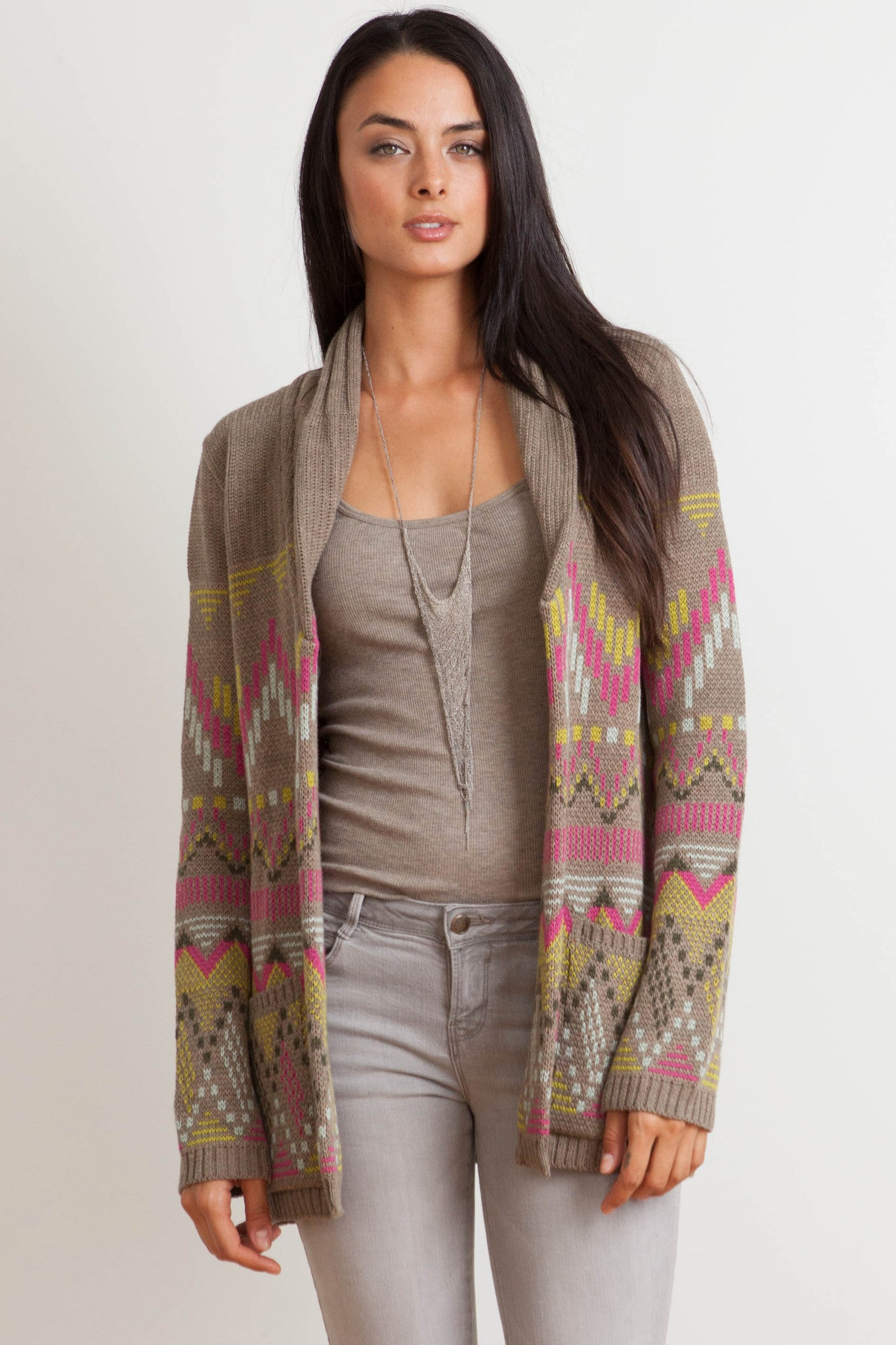 Florence Belted Cardigan in Kiwi 'LAST ONE'