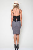Freyja Skirt in Grey Iron