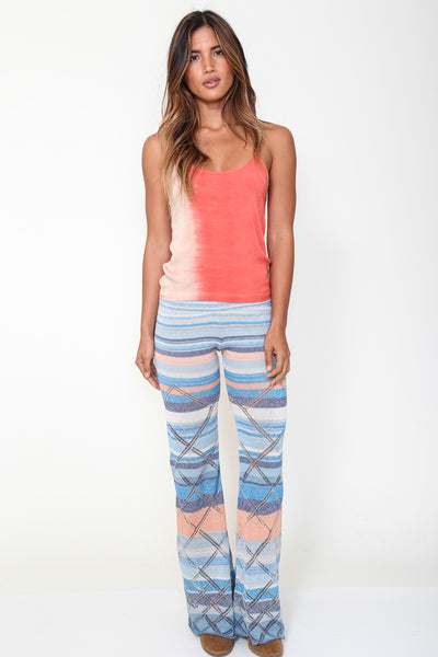 Goddis Grayson Knit Pant in Sea Air