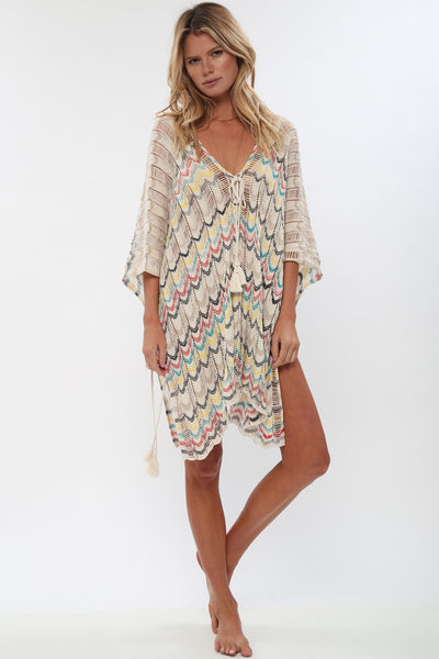 Hendrix Sheer Poncho in Du Jour'LAST ONE'