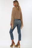 Island Gypsy Sheer Knit Top in Carmel