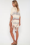 Island Life Fringe Poncho in Roman Holiday