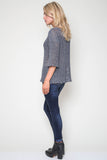 Jagger Semi-Sheer Pullover in Oceanic Mix