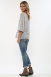 Jagger Semi-Sheer Pullover in Pale Smoke 'LAST ONE'