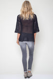 Jagger Semi-Sheer Pullover in Vessel 'LAST ONE'