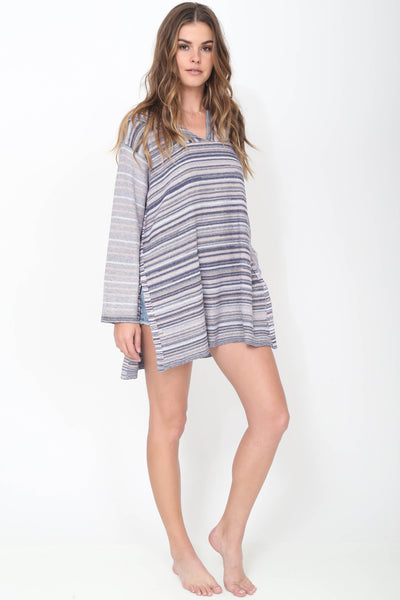 Jax Hooded Pullover in Serene