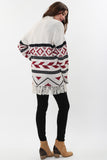 Kayden Fringe Cardigan in Autumn Fire