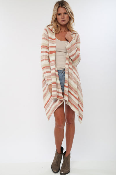 Leona Hooded Wrap Sweater in Sun Drenched'LAST ONE'