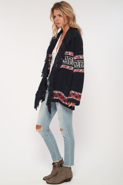 Leyton Fringe Cardigan in Lover's Retreat