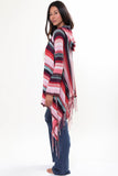 Linsey Hooded Wrap Sweater with Fringe in Cross My Heart