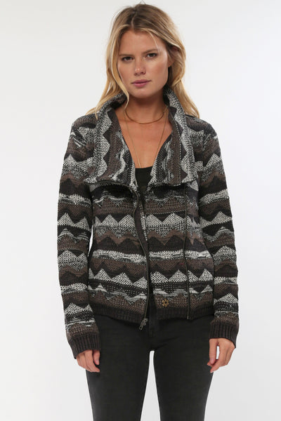 Lany Bomber Knit Jacket in Teak