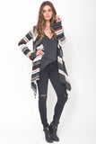 Leona Hooded Wrap Sweater in Canyon Sky