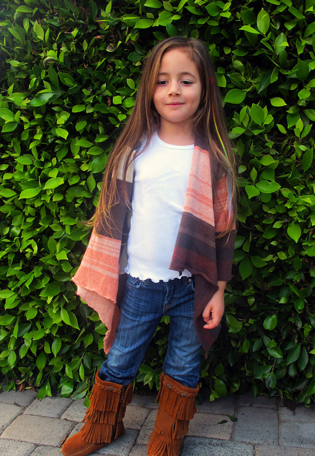 Lil Goddis Naples wrap sweater in Figuer