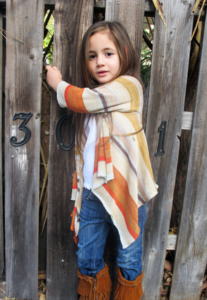 Lil Goddis Naples wrap sweater in Savannah Sun