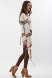 Linsey Hooded Wrap Sweater with Fringe in Gypsy Canvas 'LAST ONE'