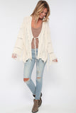 Maverick Fringe Sweater in Oatmeal