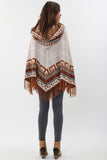 Maddie Hooded Poncho in Coppersmith