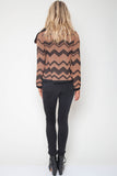 Malik Chevron Knit Jacket in Fairmont