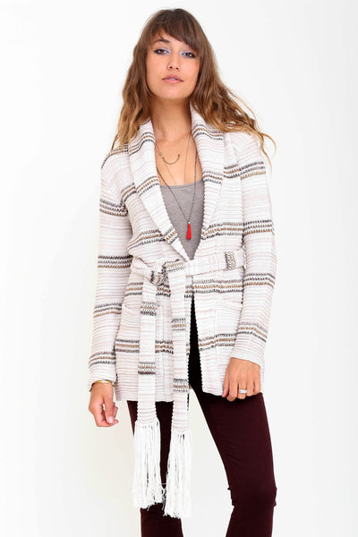 Matilda Belted Cardigan in Carmel River 'LAST ONE'