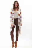 Naples Wrap Sweater in Earth Tones