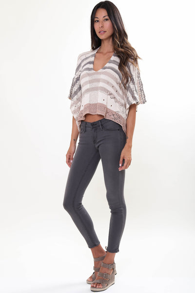 Oasis Crop Top in Cobblestone