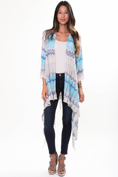 River Fringe Sweater in Ocean Dream'LAST ONE'