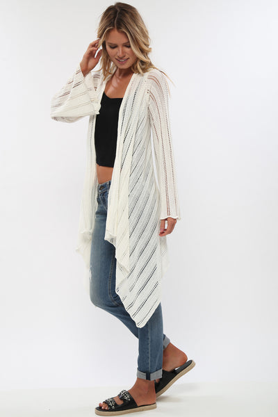 Riya Drape Sweater in Creme de la Creme'LAST ONE'
