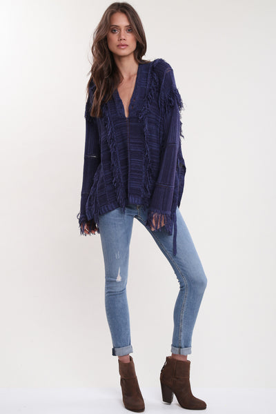 Ryley All Over Fringe Top in Voyage 'LAST ONE'