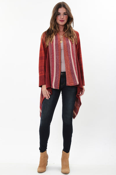 Rayne Drape Sweater in Salmon Rose