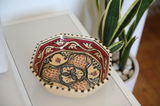 Vintage Tunisian Ceramic Medium Octagon Bowl Red