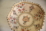 Vintage Tunisian Med/Lg Ceramic Octagon Bowl Cream