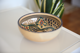 Vintage Tunisian Ceramic Small Round Bowl Blue