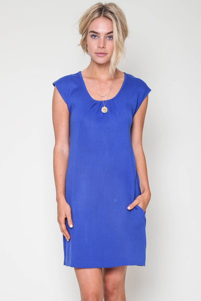 Tarah Knit Dress in Royal