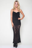 Tati Knit Maxi Skirt in Asphalt