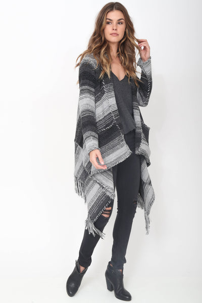 Tatum Handloomed Baby Alpaca Sweater in Gun Metal 'LAST ONE IN EACH SIZE'