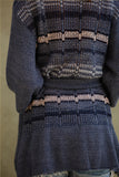 Starr Belted Cardigan in Blueberry