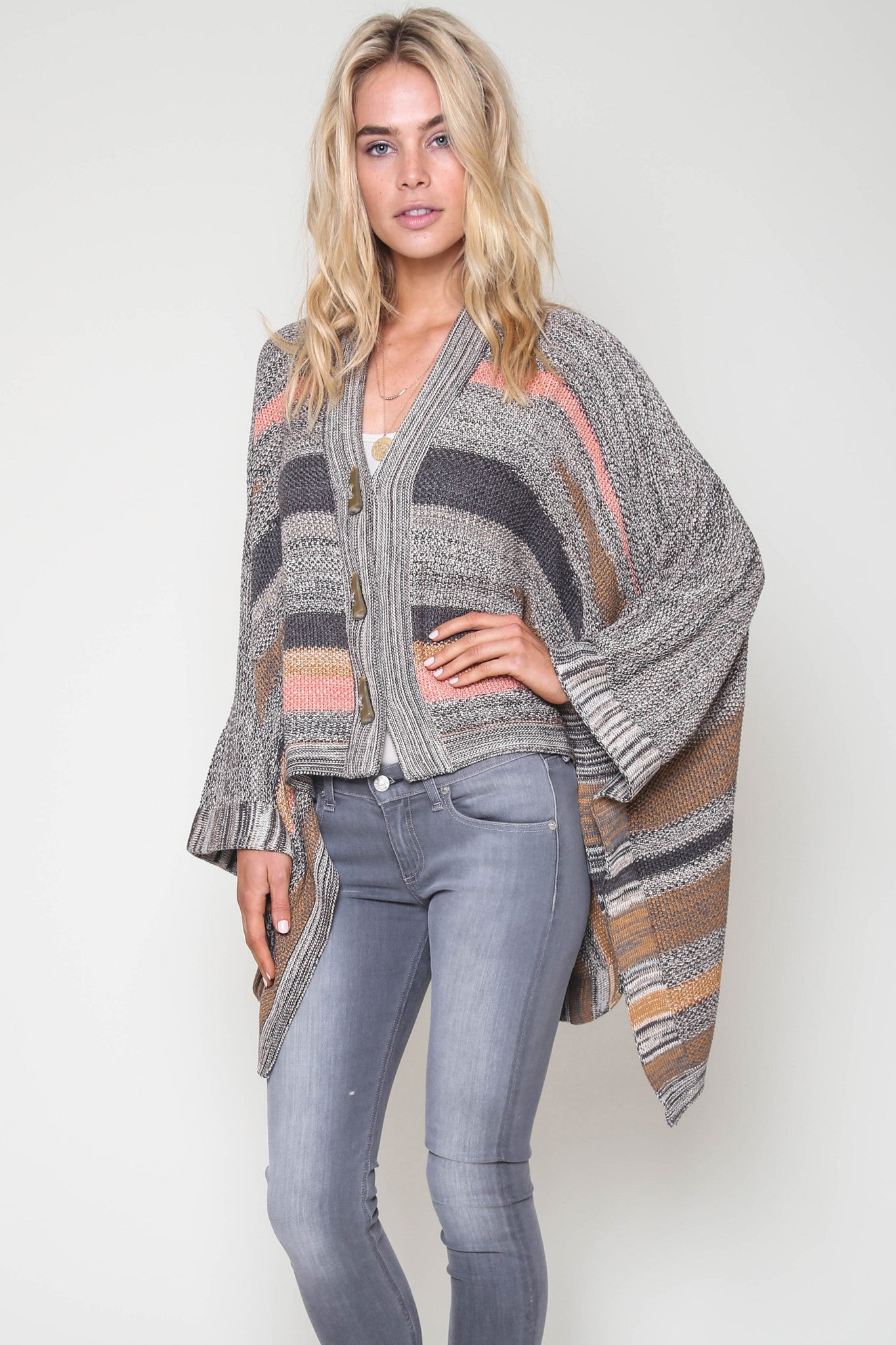 Candise Poncho in Brown Sugar