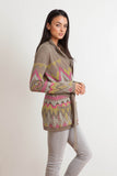 Florence Belted Cardigan in Kiwi 'LAST ONE IN EACH SIZE'