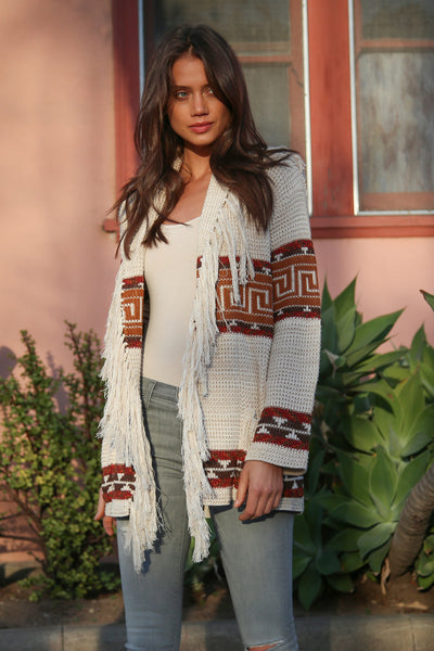 Leyton Fringe Cardigan in Tahitian Breeze