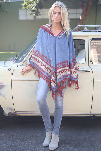 Maddie Hooded Poncho in Star Dust 'LAST ONE'