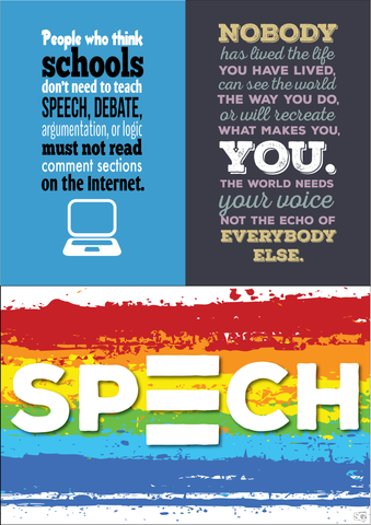 SpeechGeek Poster 3-Pack - SpeechGeek Market
